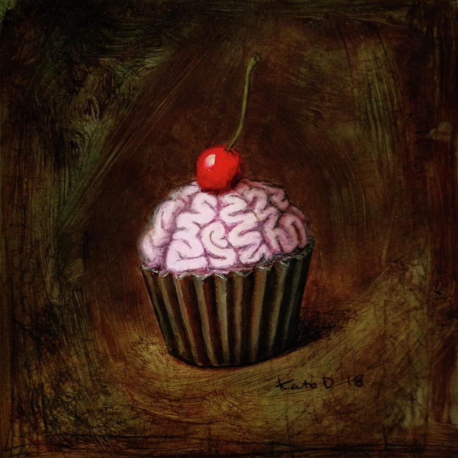 Brains Mixed Media - Yum by Kato D