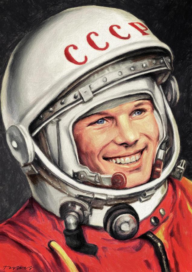 Yuri Gagarin Painting