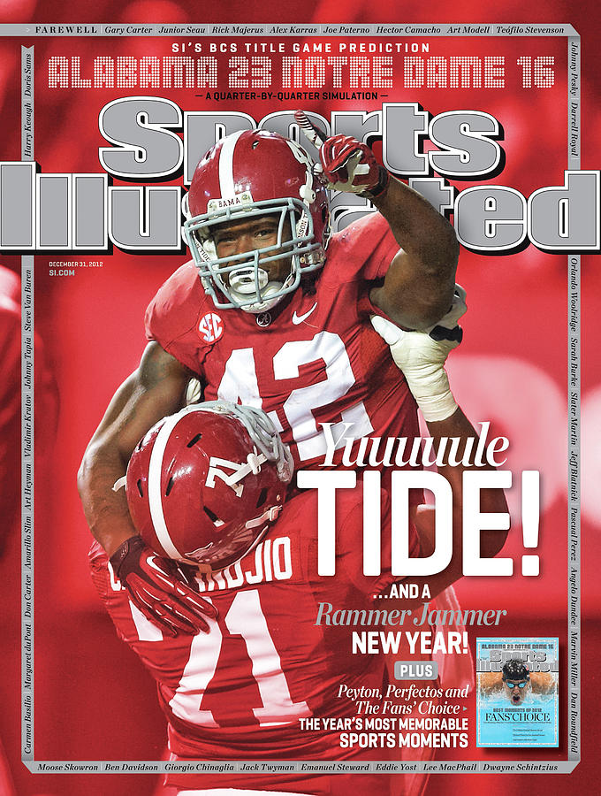 Yuuuuule Tide And A Rammer Jammer New Year Sis Bcs Title Sports Illustrated Cover Photograph by Sports Illustrated