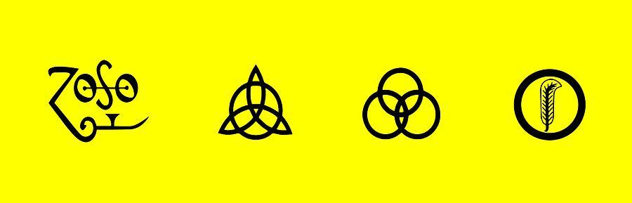 Led Zeppelin Digital Art - Z O S O Led Zeppelin Logo For T-shirt by Daniel Hagerman