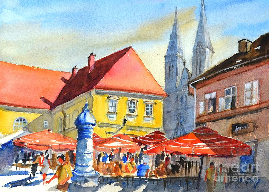 Zagreb near Dolce Market by Betty M M Wong