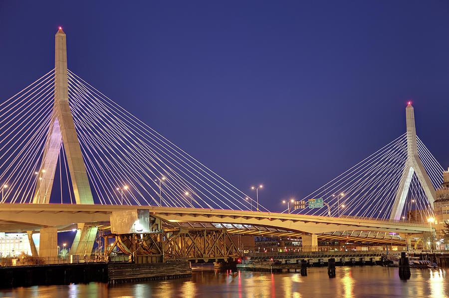 Zakim Bunker Hill Bridge Photograph by Denistangneyjr