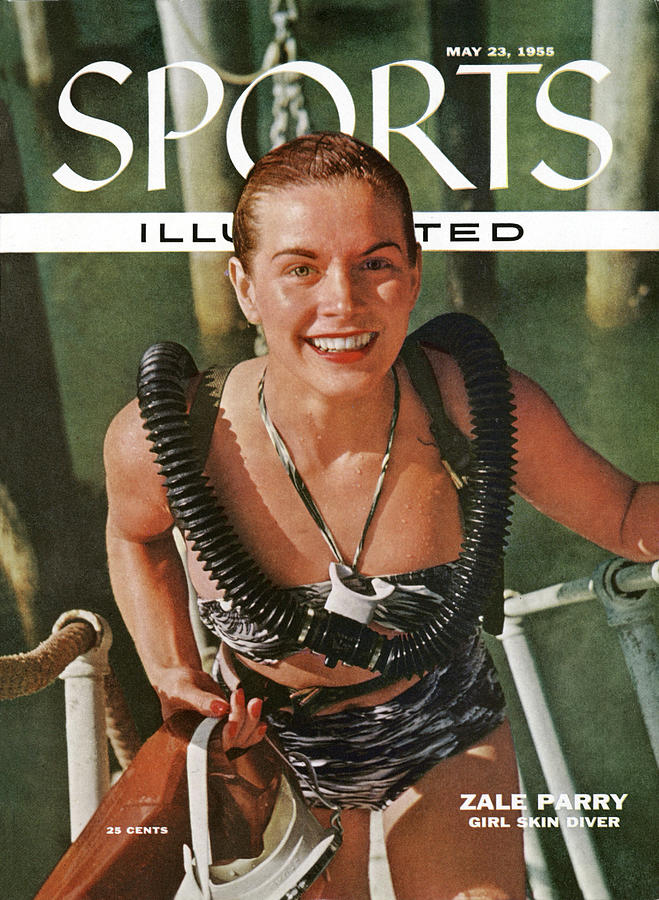 Zale Parry Girl Skin Diver Sports Illustrated Cover Photograph by Sports Illustrated