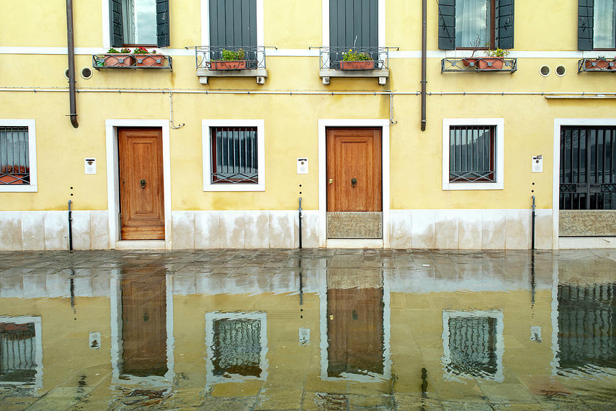 Zattere Reflections 4, Venice by Jean Gill