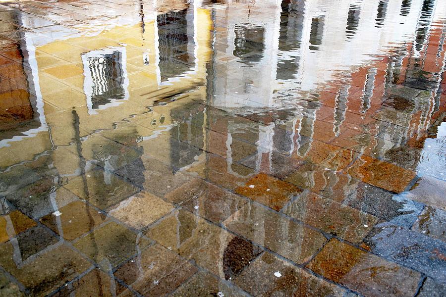 Zattere Reflections 3, Venice by Jean Gill