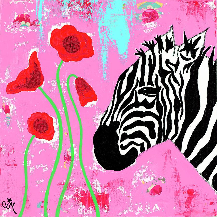 Animals Painting - Zebra by Jennifer Mccully