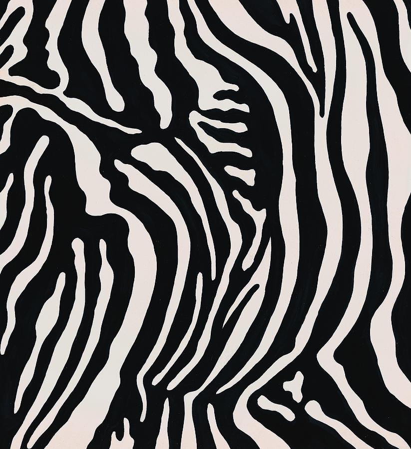 Zebra Pattern Digital Art by Donna Ikkanda