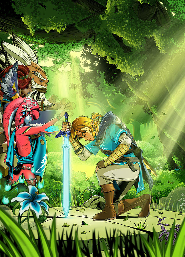 It is a graphic of Lucrative Breath Of The Wild Drawing