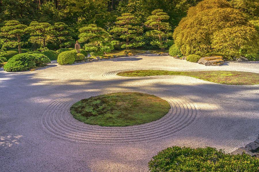 Zen Garden In Portland Japanese Garden Photograph By Art Spectrum