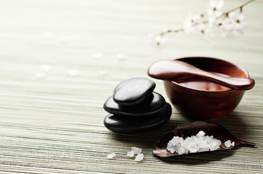 Zen Spa Rejuvenation Background Photograph by Nightanddayimages