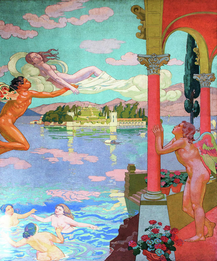 Maurice Denis Painting - Zephyr Carries Psyche To The Island Of Bliss - Digital Remastered Edition by Maurice Denis