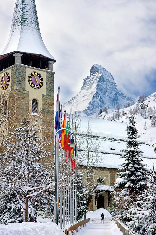 Zermatt Church Photograph