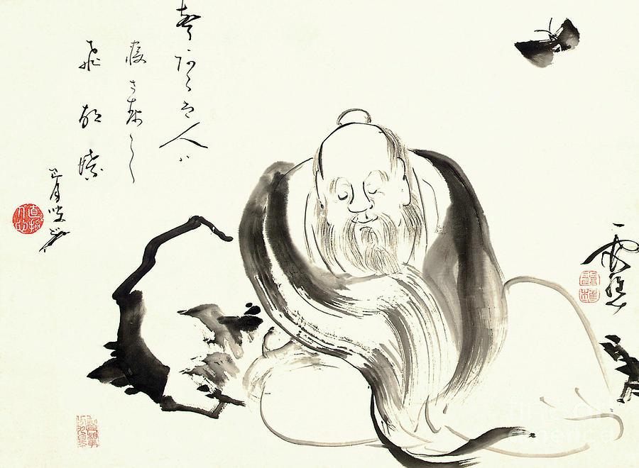 Zhuang Zi dreaming of a butterfly  by Ike no Taiga