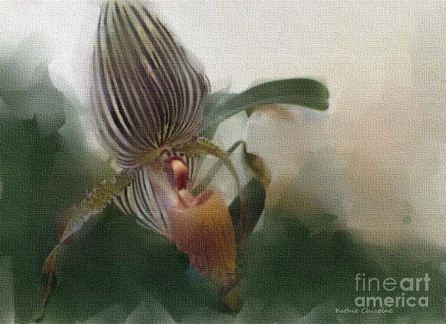 Lady Slipper Orchid by Kathie Chicoine