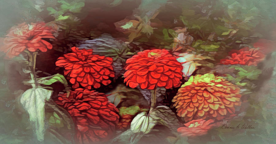 Zinnia Garden by Bonnie Willis