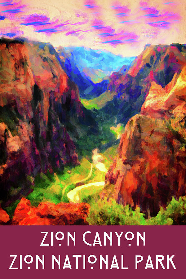 Zion Canyon by Chuck Mountain