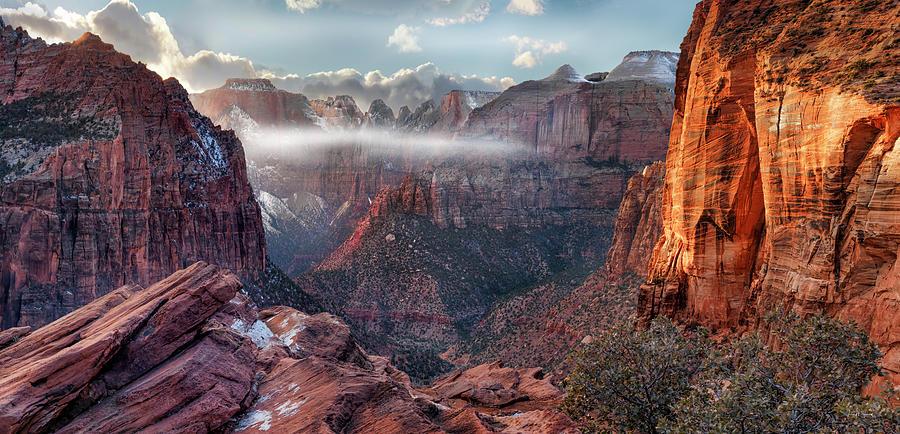 Zion Canyon Grandeur by Leland D Howard