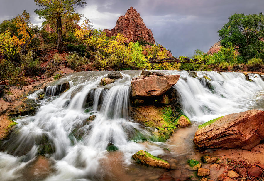 Zion Park Waterfalls by Michael Ash