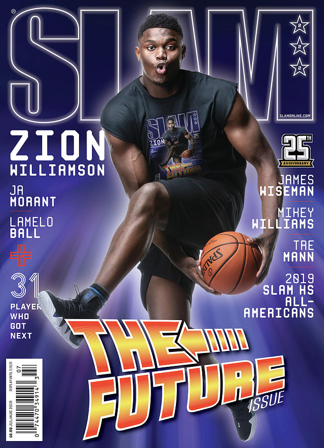 Zion Williamson: The Future Issue SLAM Cover Photograph by Matthew Coughlin