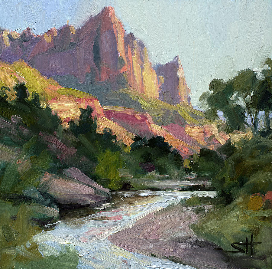 Zion Painting - Zions Watchman by Steve Henderson