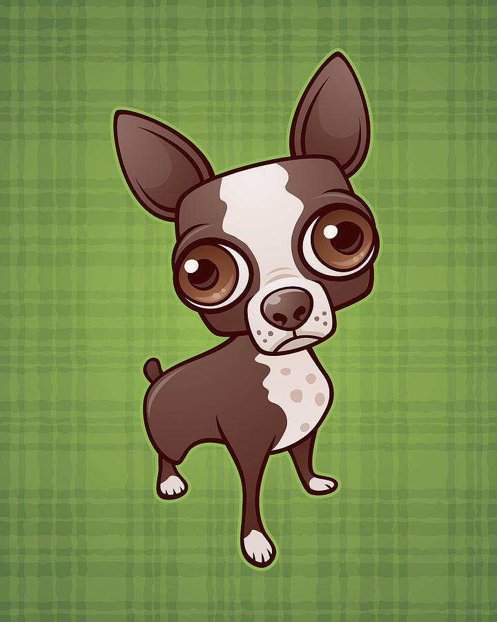 Zippy The Boston Terrier Digital Art