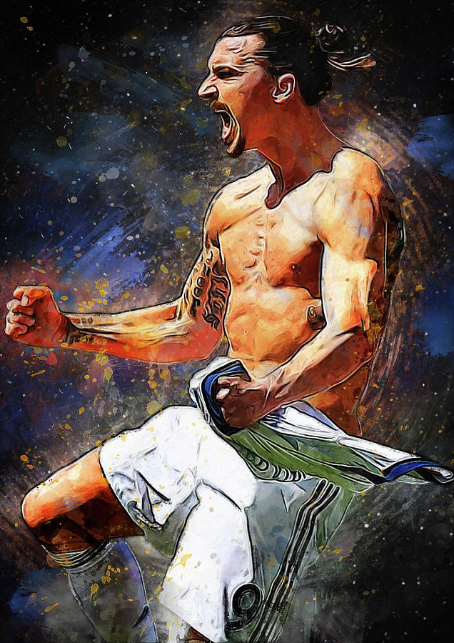 Zlatan Ibrahimovic Digital Art - Zlatan Ibrahimovic by Smh Yrdbk