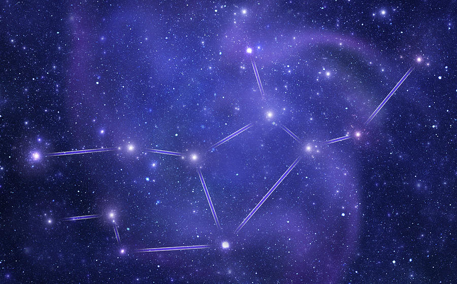 Zodiacal Constellations. Virgo Photograph by Sololos