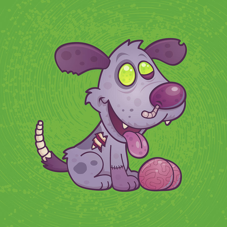 Zombie Puppy Digital Art