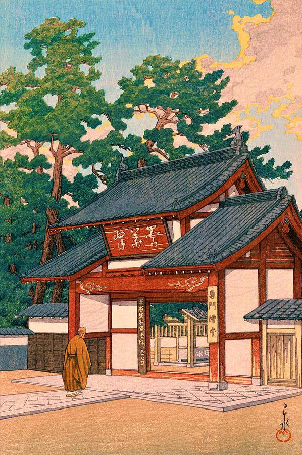 Ukiyoe Painting - Zuizenji - Top Quality Image Edition by Kawase Hasui