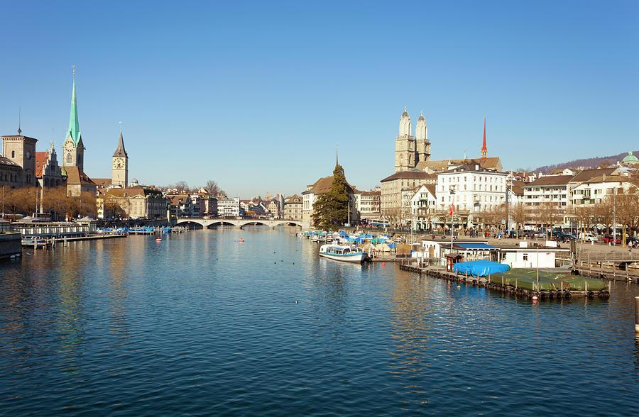 Zurich Cityscape, Switzerland Photograph by Querbeet