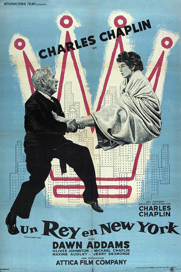 A King In New York, With Charlie Chaplin, 1957 Mixed Media