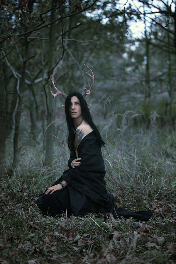 Antlers Digital Art - Forest Spirit by Cambion Art