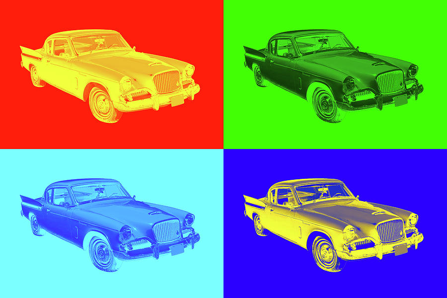 1961 Studebaker Hawk Coupe Pop Art Photograph