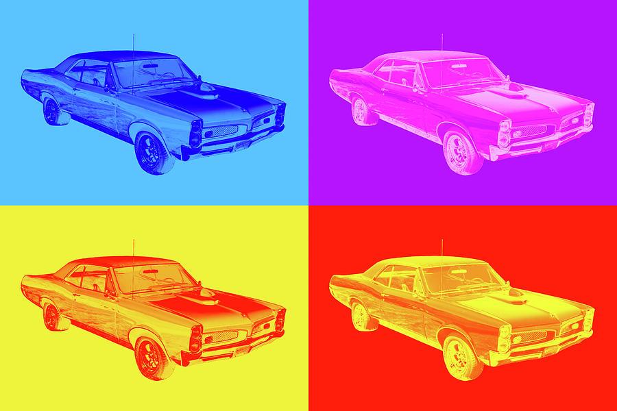 1967 Pontiac Gto Muscle Car Pop Art Photograph
