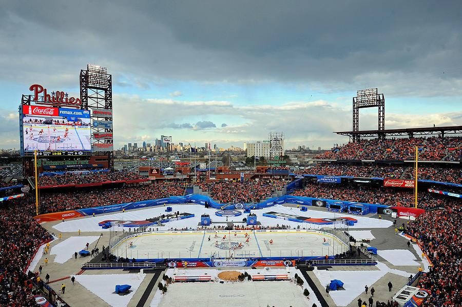 2012 Bridgestone NHL Winter Classic - New York Rangers v Philadelphia Flyers Photograph by Patrick McDermott