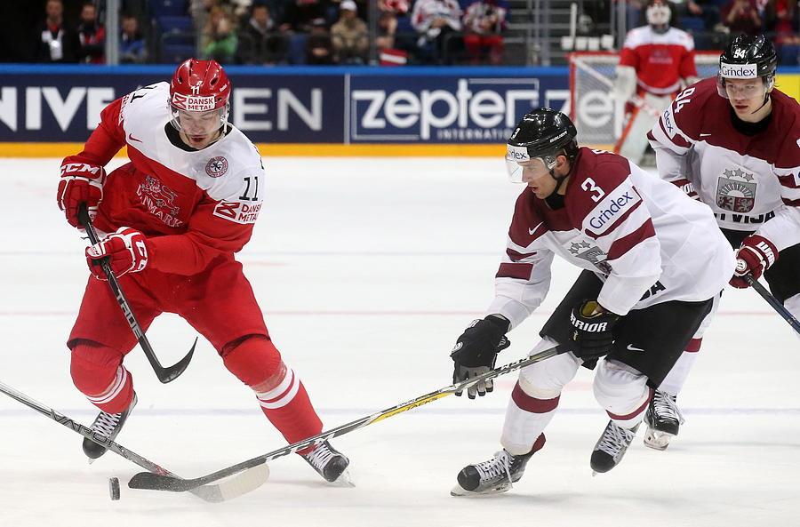 2016 IIHF Ice Hockey World Championship Group Stage: Denmark vs Latvia Photograph by Artyom Korotayev