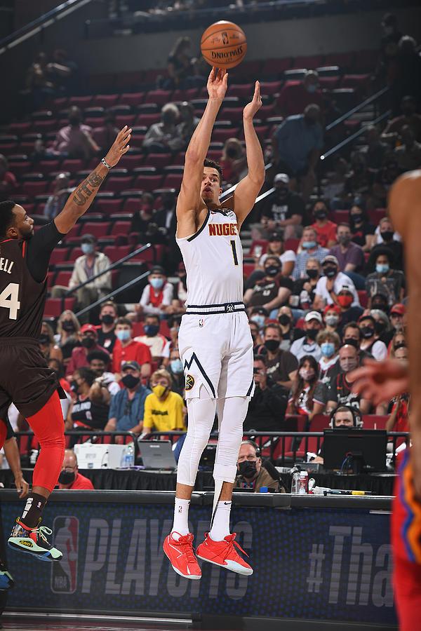 2021 NBA Playoffs - Denver Nuggets v Portland Trail Blazers Photograph by Garrett Ellwood