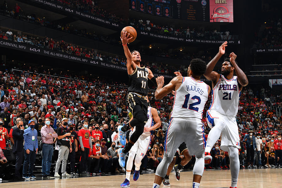2021 NBA Playoffs - Philadelphia 76ers v Atlanta Hawks Photograph by Jesse D. Garrabrant