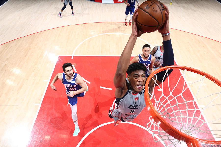 2021 NBA Playoffs - Philadelphia 76ers v Washington Wizards Photograph by Ned Dishman