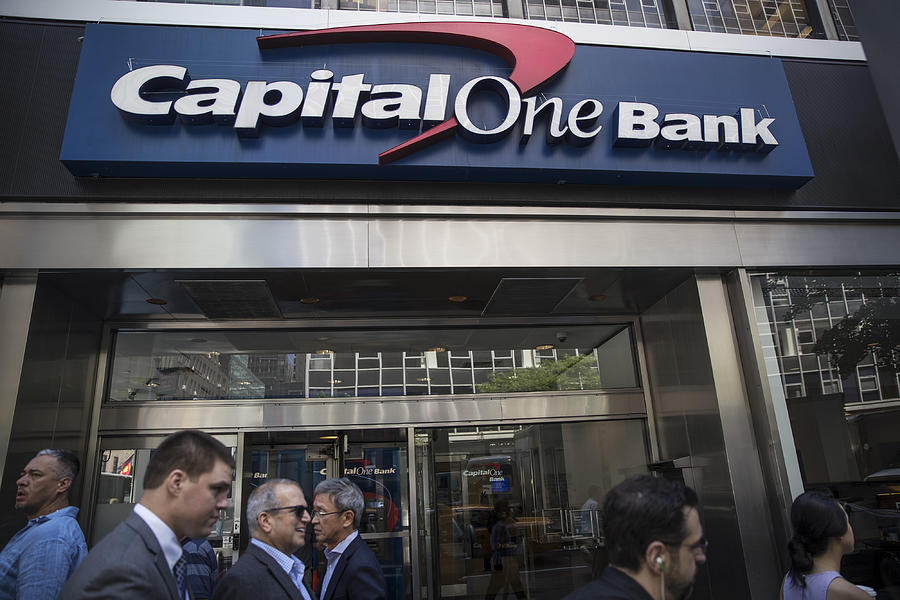 A Capital One Financial Corp. Bank Branch As Earnings Released Photograph by Bloomberg