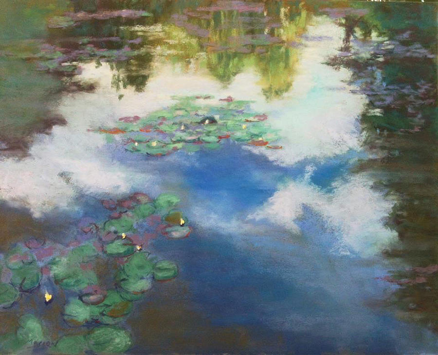 Landscape Painting - A Day With Monet by Marion Corbin Mayer