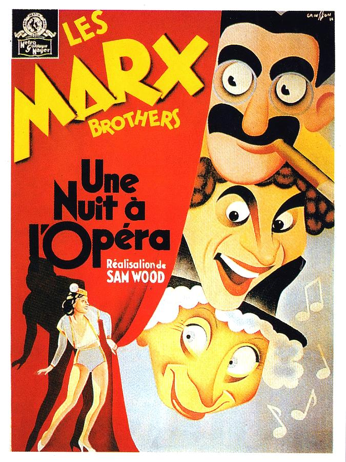 a Night At The Opera, With The Marx Brothers, 1935 Mixed Media