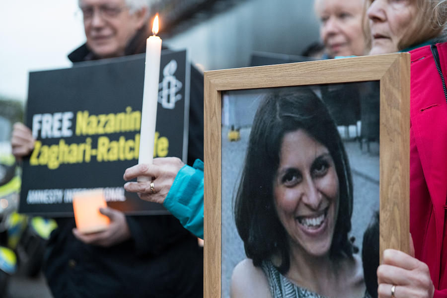 A Vigil Is Held For British-Iranian Mother Imprisoned In Tehran Photograph by Chris J Ratcliffe