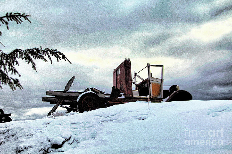 Snow Photograph - Abandoned by Roland Stanke