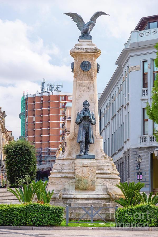 Abruzzo region, Italy, Vasto The Statue in Piazza Gabriele Rossetti square by Luca Lorenzelli