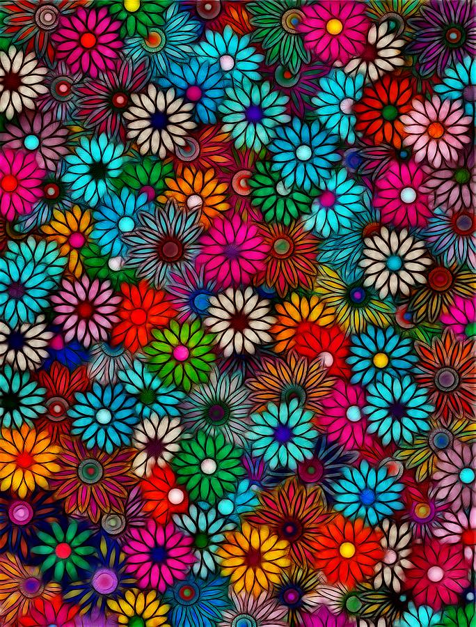 Abstract Flowers Photograph