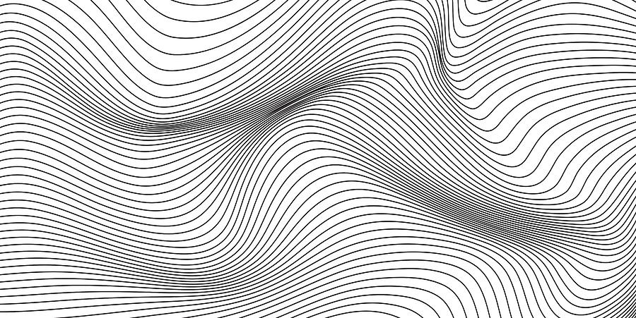 Abstract Waving Stripes Background. Abstract design template for brochures, flyers, magazine, business card, branding, banners, headers, book covers, notebooks background vector Drawing by Ajwad Creative