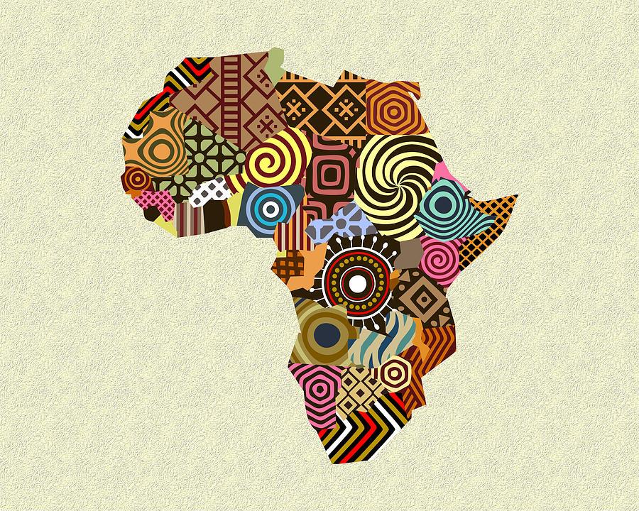 Africa Map Art African Map Digital Art by Lanre Studio