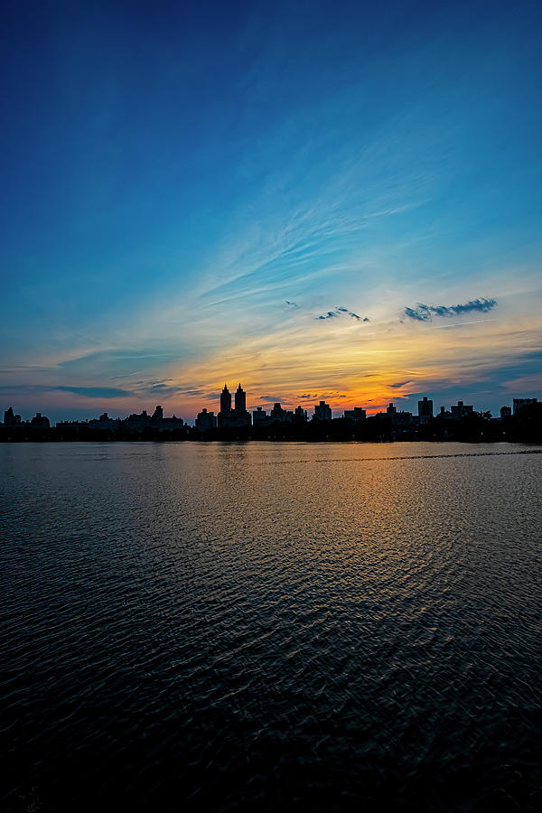 After Sunset - Central Park Reservoir Photograph