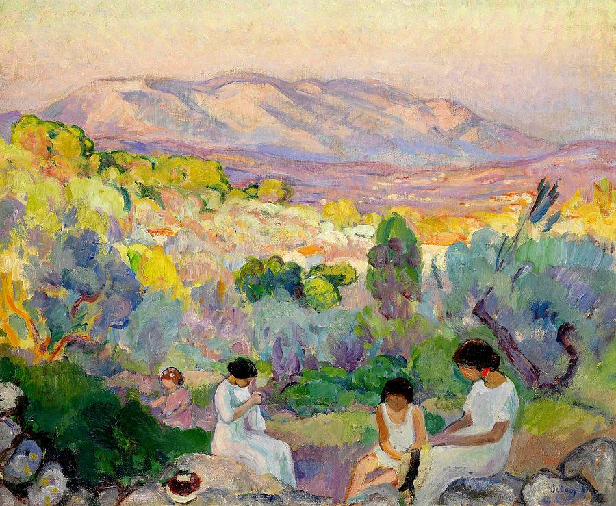 Henri Lebasque Painting - Afternoon at Frejus by Henri Lebasque